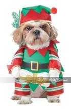 California Costumes Elf Chiot Père Noël Chien Noël Vacances Costume - £15.73 GBP
