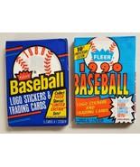 1988 & 1990 Fleer Baseball Lot of 2 New Sealed Unopened Packs* - $12.85