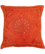 "16""/24"" Handmade Orange Mirror Embroidered Pillow Cushion Cover Sofa Cou... - $9.89+"