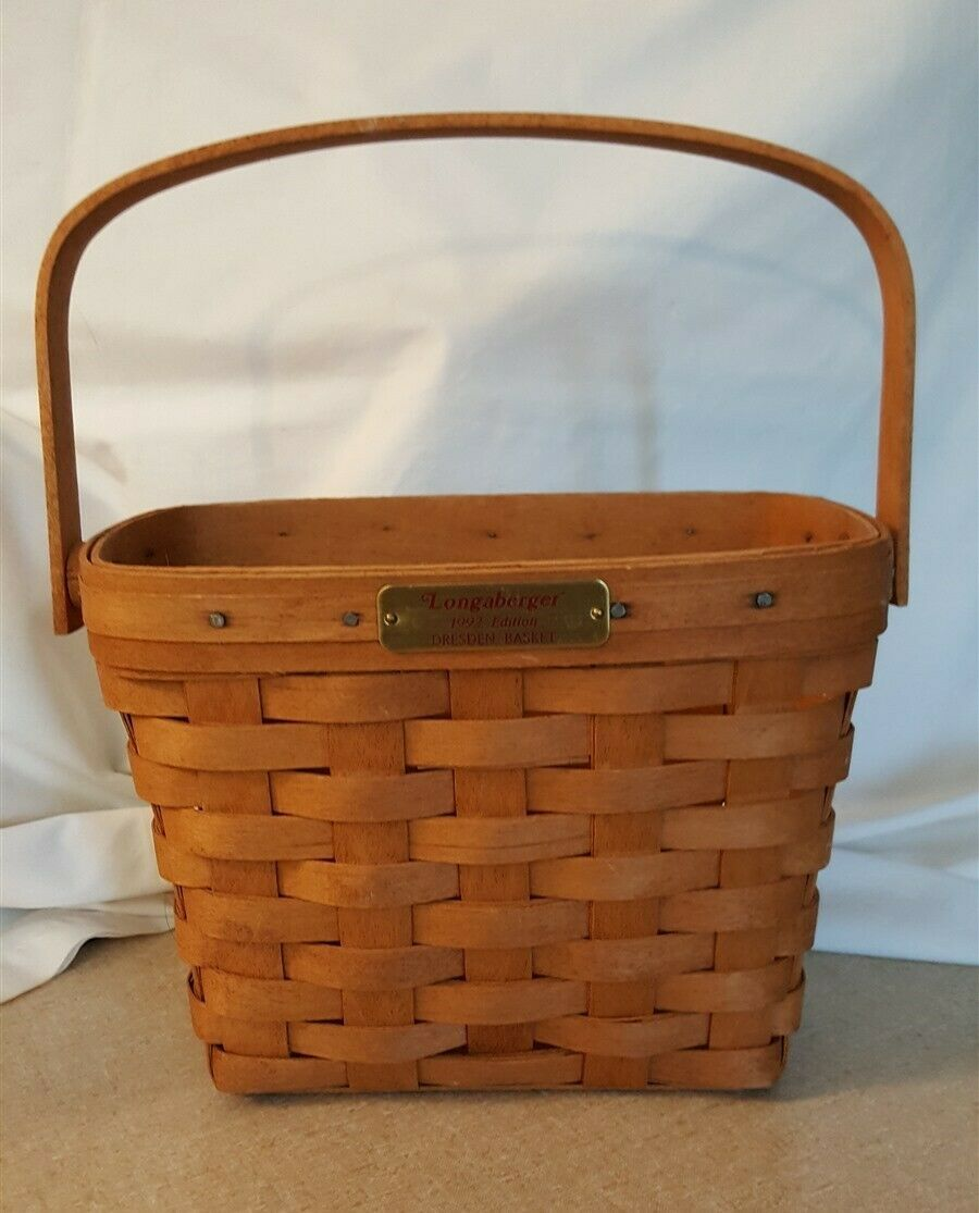Longaberger 1992 Edition Dresden Basket With Swing Handle