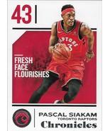 Paskal Siakam Chronicles 18-19 #81 Toronto Raptors - $0.15