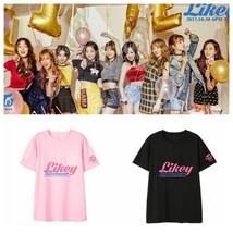 KPOP TWICE T-shirt Likely Tshirt Twicetagram Ablum Letter Tee MOMO Lim N... - $9.99