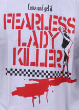 In4mation Hawaii Mens White Come and Get it Fearless Lady Killer T-Shirt NWT image 4