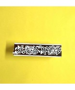 Indian textile border traditional paisley floral craft making stamps blo... - $13.02