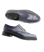 Handmade Special Navy Collection Wing Tip Derby Fashion Shoes New Style ... - $199.97+