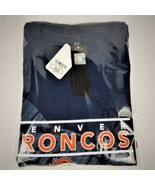 Official NFL TEAM Apparel-Denver Broncos T-Shirt-Blue-2XL-2017 Season-NWT - $28.40