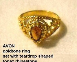 AVON Imitation Topaz Ring  - $6.00