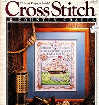 CROSS STITCH & COUNTRY CRAFTS JAN '89 QUAIL VICTORIAN FLOWER - $4.95