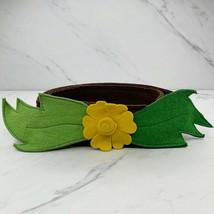 Multicolor Handmade Costume Felt Flower Belt Size Small S - $17.43