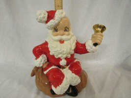 "Vintage Atlantic Mold Ceramic Santa Claus on Toy Bag 10.5"" Figurine Ring... - $18.99"
