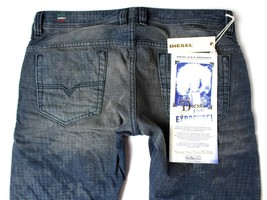 NEW DIESEL MEN'S PREMIUM DENIM REGULAR SLIM STRAIGHT DESIGNER JEANS SAFADO 0811M image 1