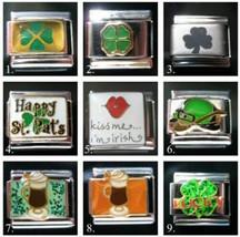 Irish St. Patrick's Day Theme Italian charm fits Classic 9mm bracelet - $4.53