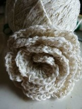 Single Handmade Large Crochet Rose Flower Appliqué or Dog Collar Accessory - $7.28