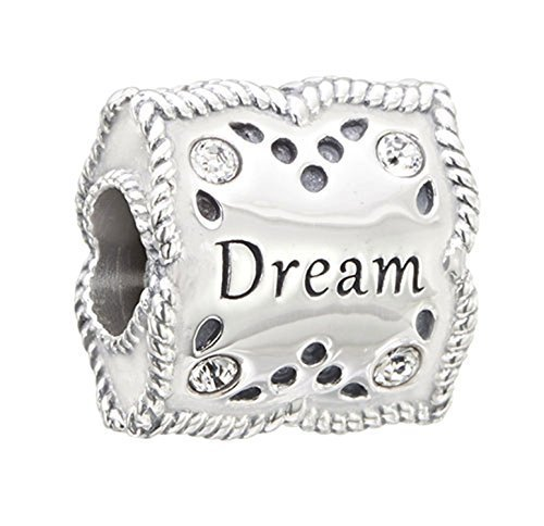 Authentic Chamilia Sterling Silver Charm Dream and Inspire with Swarovski 2025-1