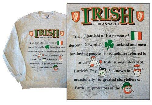Ireland national definition sweatshirt 10271