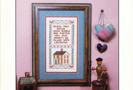 CROSS STITCH BLESS THIS HOUSE EACH BOARD & RAFTER - $3.00