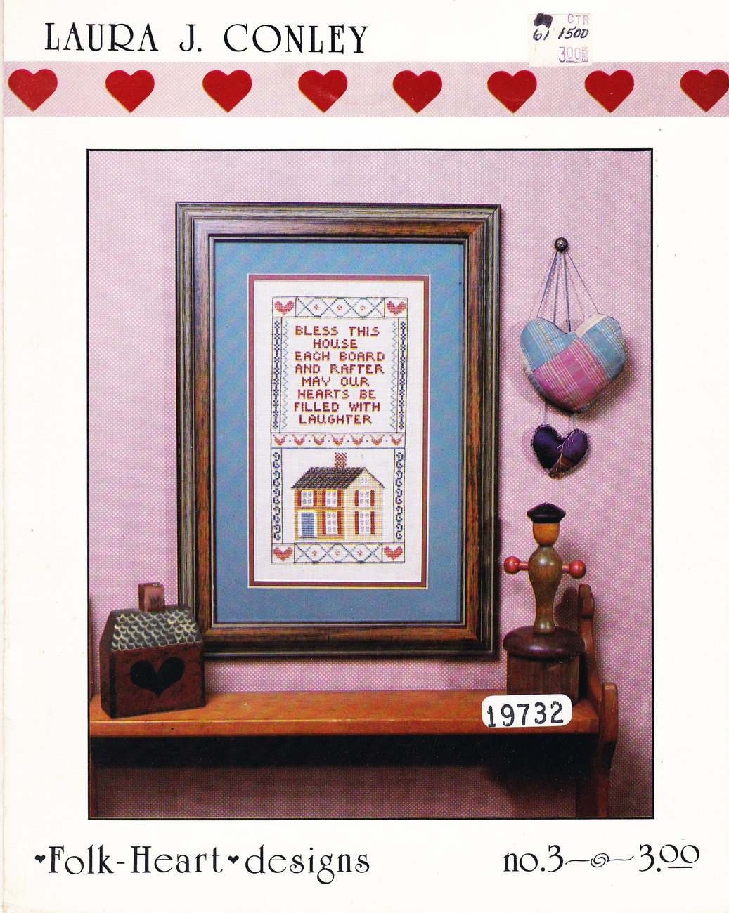 CROSS STITCH BLESS THIS HOUSE EACH BOARD & RAFTER