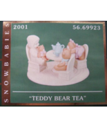 SNOWBABIES THE GUEST COLLECTION TEDDY BEAR TEA - $30.00