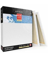 "ARTEZA 16x20"" Professional Stretched White Blank Canvas, Bulk Pack of 6,... - $50.83"
