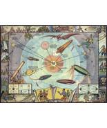 "1933 Buck Rogers Solar System Map Cocomalt Space World Spaceship 11""x15""... - $13.37"