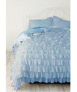 LinensnCurtains BLUE Ruffle Style Duvet Cover Set 3pc - $169.00+