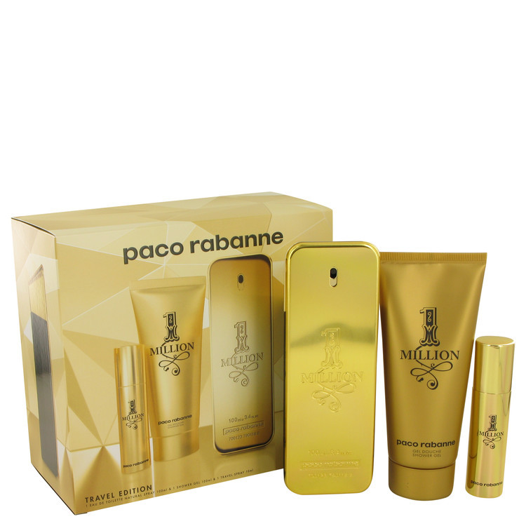 Paco Rabanne 1 Million 3.4 Oz Eau De Toilette Spray Cologne Gift Set