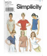 Simplicity Pattern #8523-Misses Top in Sizes 14-16-18 - $5.86