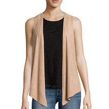 Self Esteem Layered-Look Tank Top with Suede Vest Size S New Msrp $42.00 - $12.99