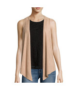 Self Esteem Layered-Look Tank Top with Suede Vest Size S New Msrp $42.00 - $14.99