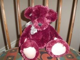 Russ Berrie Burgundy 12 Inch Plush Bear with Heart 29856 - $67.54