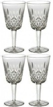 Waterford Classic Lismore Goblet Pair Two Sets 4 Glasses #154037 Brand New - $201.96