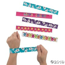 10 Easter Slap Bracelets Bunny Chick Basket Filler Party FAVOR Egg Hunt ... - $7.95