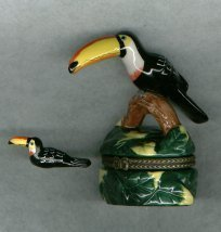 TOUCAN HINGED BOX - £8.48 GBP