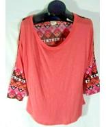 Self Esteem Southwestern Design Womens Shirt Low Cut Size XXL J - $19.90