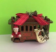 Powell Hyde San Francisco Cable Car Christmas Ornament Collectible Gift - $6.26
