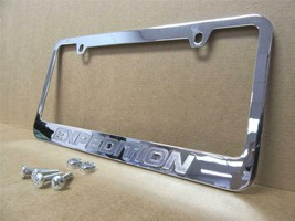 1997-2015 Ford Expedition Chrome Metal License Plate Frame with logo screw caps - $17.81