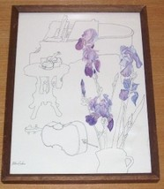 "1977 MILLICENT TOMKINS ""IRIS"" MUSICAL INSTRUMENTS PRINT - $200.00"