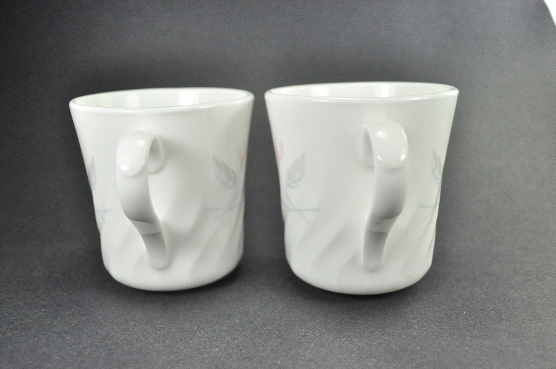 2 Corelle Impressions Pink Trio Coffee Mug Cups