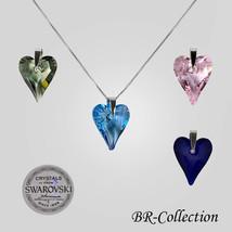 Authentic Swarovski Crystal Necklace with Italian Box Venetian Chain - $31.95