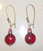 Pink Dangle Earrings - $5.99