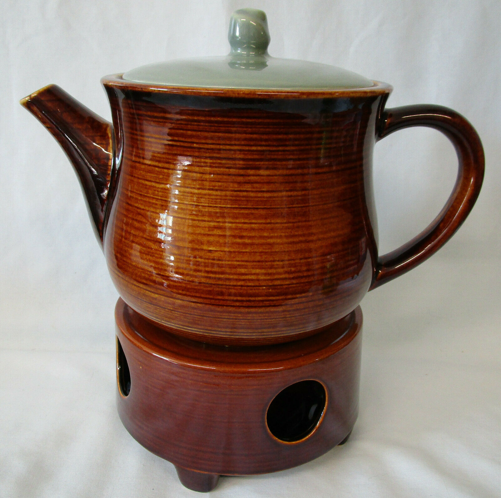 Red Wing Village Green Tea Pot with Warmer - $119.68
