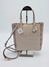 Coach Madison Ocelot Croc Leather Bonded Mini Tote Crossbody Bag New 283... - $228.00