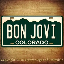 Bon Jovi Rock and Roll Band Colorado State Aluminum Vanity License Plate - $16.82