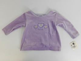 OshKosh B'Gosh Girl Baby Shirt Size 12 MOS. Purple Polyester and Lycra Spandex - $9.36