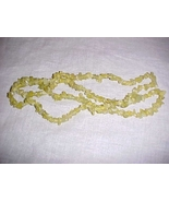"""32"""" strand of Natural Peridot Chip Beads Necklace - $17.99"""