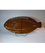 McCoy Fish Seafood Serving Platter Large Oven Proof 18'' USA Pottery 937... - $68.31