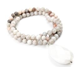 Elevate Tasbih Necklace, 99 Gemstones, Boho Beach, Jade, Jasper, Gift Fo... - $135.00+