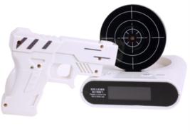 LCD Laser Gun Shooting Target Wake UP Alarm Desk Clock Novelty Gadget Fu... - $31.06 CAD