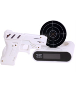LCD Laser Gun Shooting Target Wake UP Alarm Desk Clock Novelty Gadget Fu... - €20,62 EUR