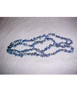 """32"""" strand of natural blue Lapis Lazuli Chip Beads necklace - $17.99"""